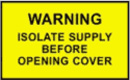 Electrical Isolation Supply Sign